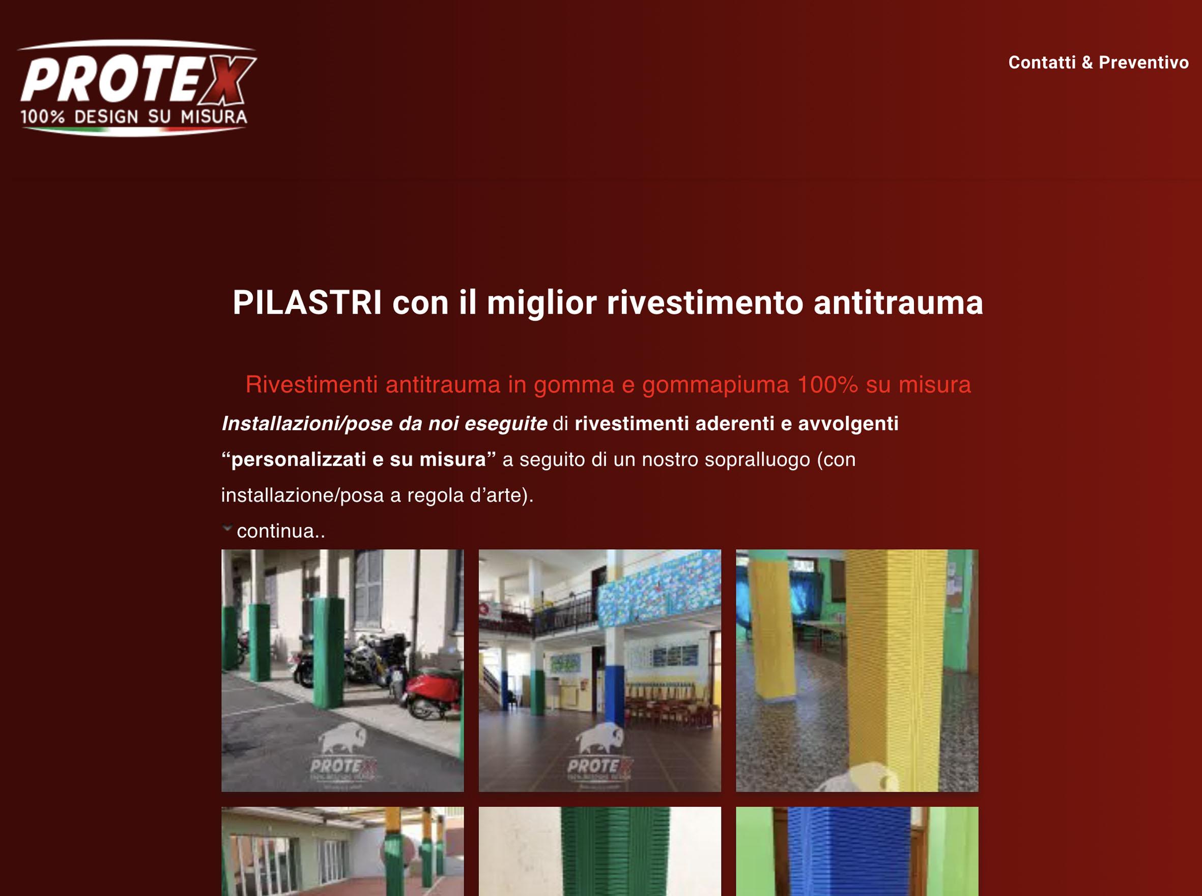Protezioni sport antitrauma per pilastri di Safe Sport Italia